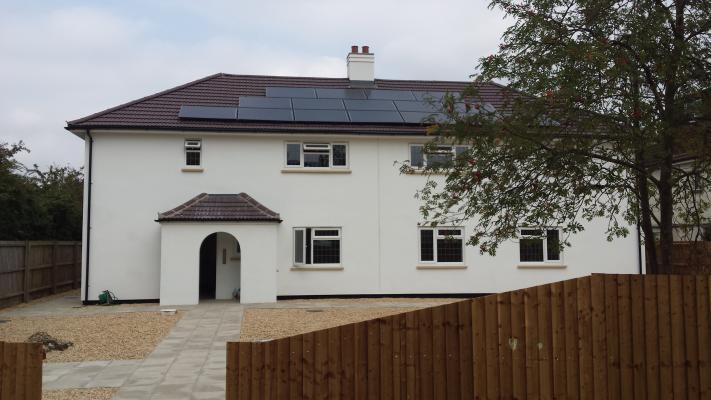 A newly rebuilt house on Barton Road, near Leckhampton