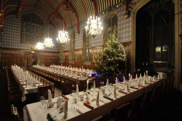The Dining Hall all ready for the festive season to start