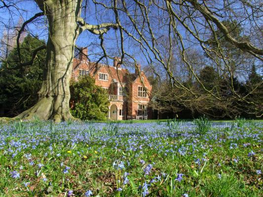 Leckhampton House in the Spring