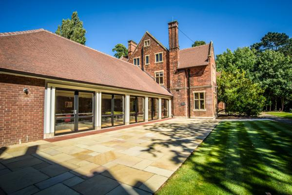 The new dining hall attached to Leckhampton House