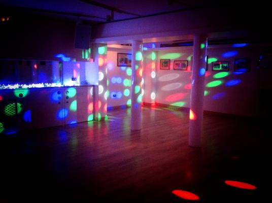 The dancefloor has a built in sound system and lighting, perfect to get your guests up and dancing