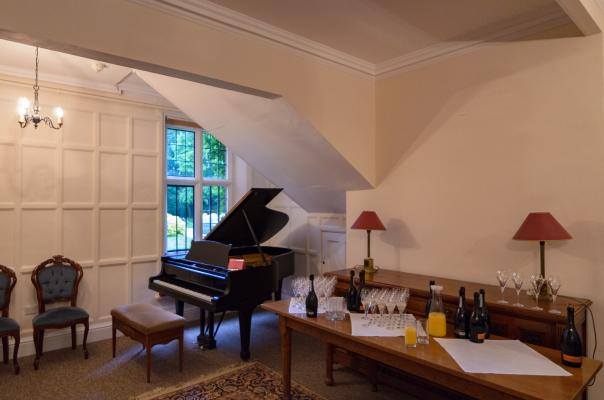 The Steinway piano in the Music Room in Leckhampton House
