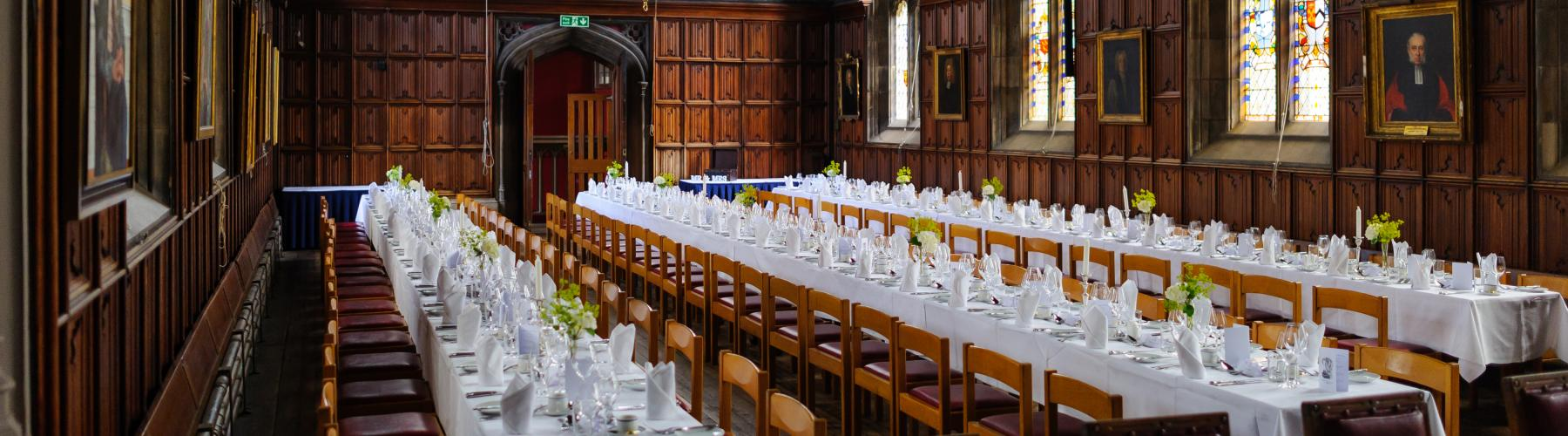 Tables in the hall