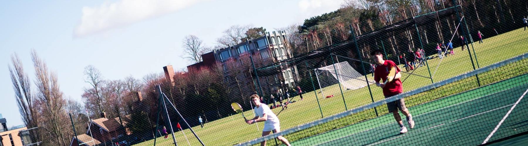 Corpus Christi tennis courts near Leckhampton